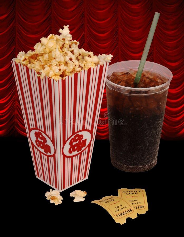 Popcorn and movie stock photo