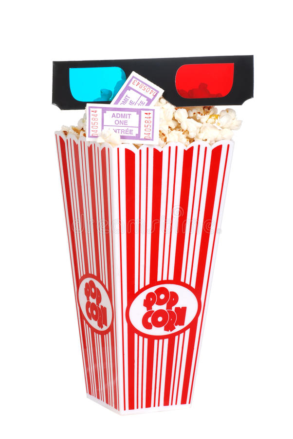 Download Popcorn Movie Tickets And 3D Glasses Stock Photo - Image: 23071204