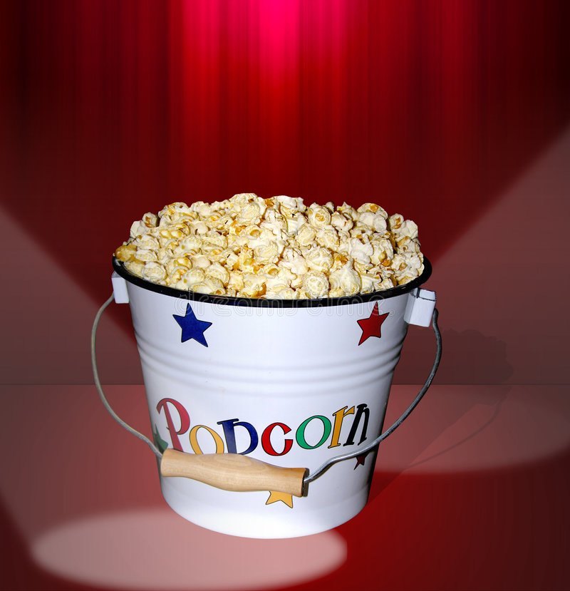 Popcorn at the Movies royalty free stock image