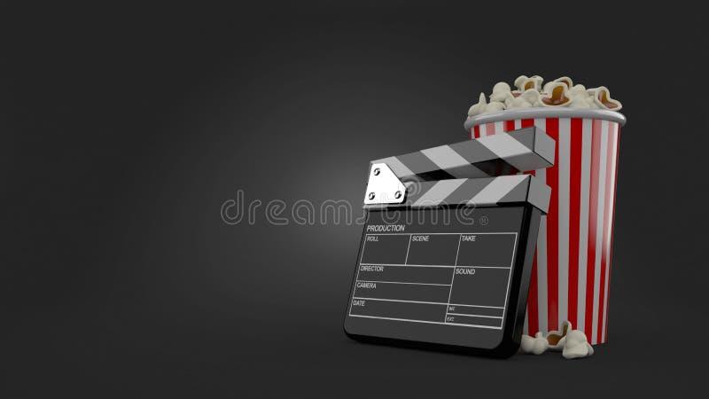 Popcorn och panelbräda royaltyfri illustrationer