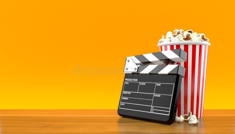 Popcorn och panelbräda vektor illustrationer