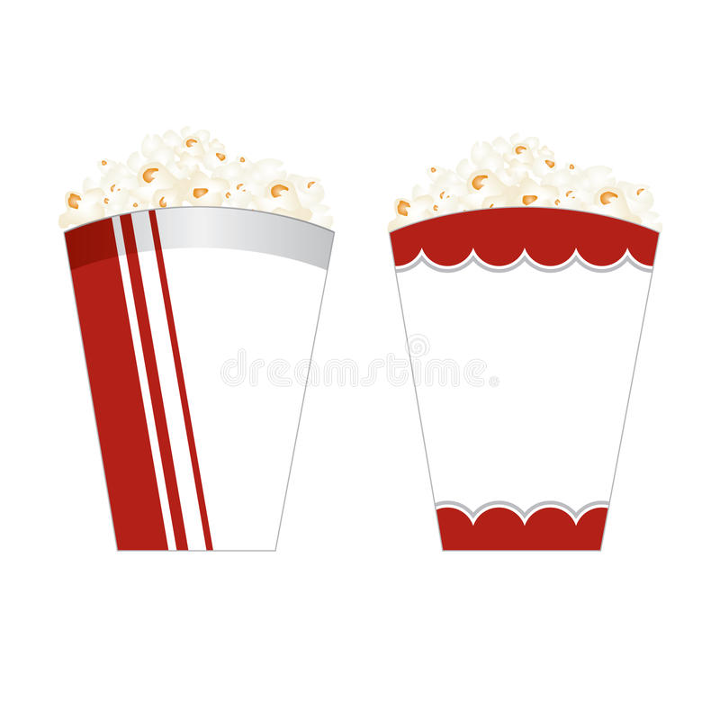 Download Popcorn packaging stock illustration. Illustration of film - 26279318