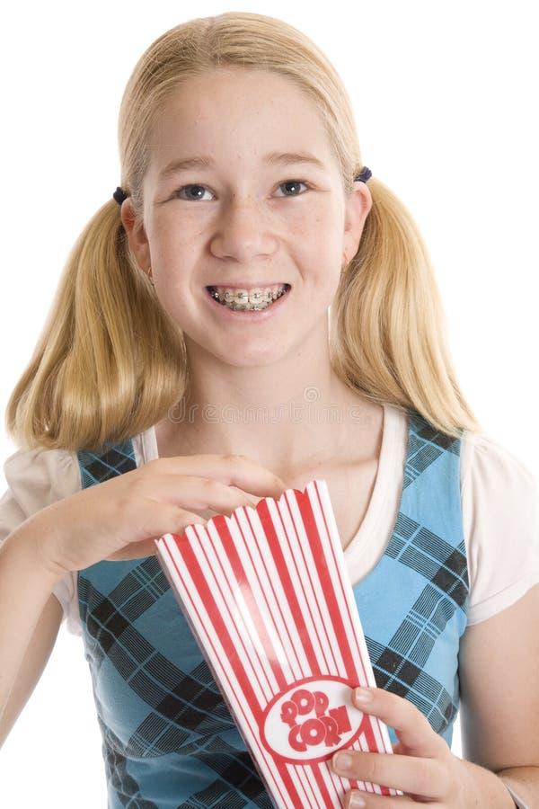 Popcorn per il film immagine stock