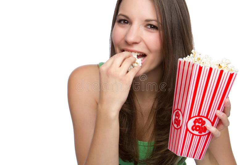 Download Popcorn Person stock image. Image of laugh, holding, girl - 17683275