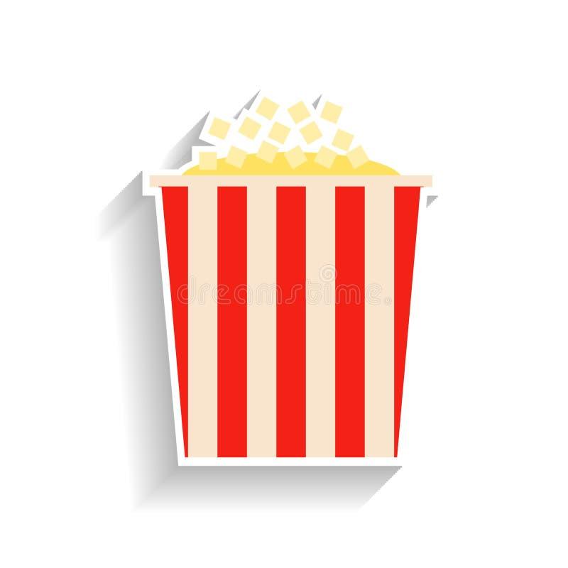 Popcorn Plan illustration av mat eller mellanmålet royaltyfri illustrationer