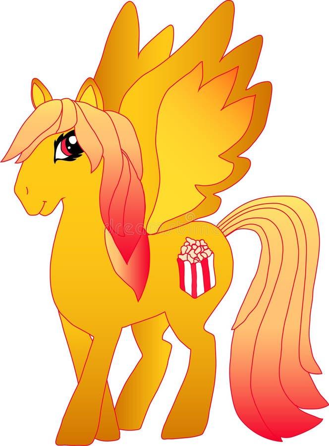 Popcorn Pony Pop stock illustratie