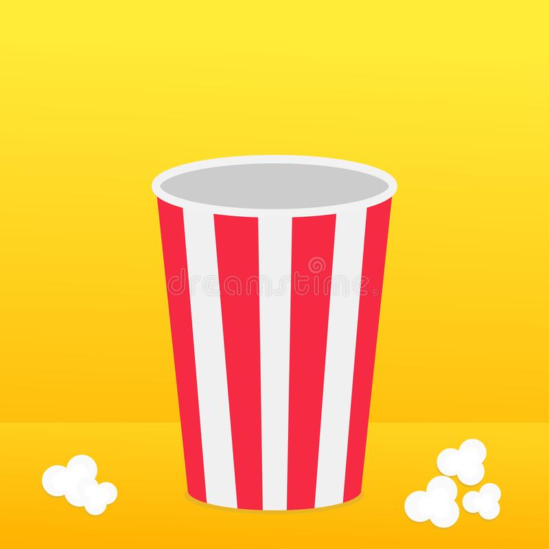 Popcorn Round Box Standing On The Surface. Movie Cinema Icon In Flat ...