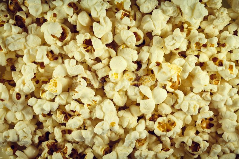 Popcorn salted white ready. On all photos. Wallpaper. Popcorn salted white ready. On all photos stock photo