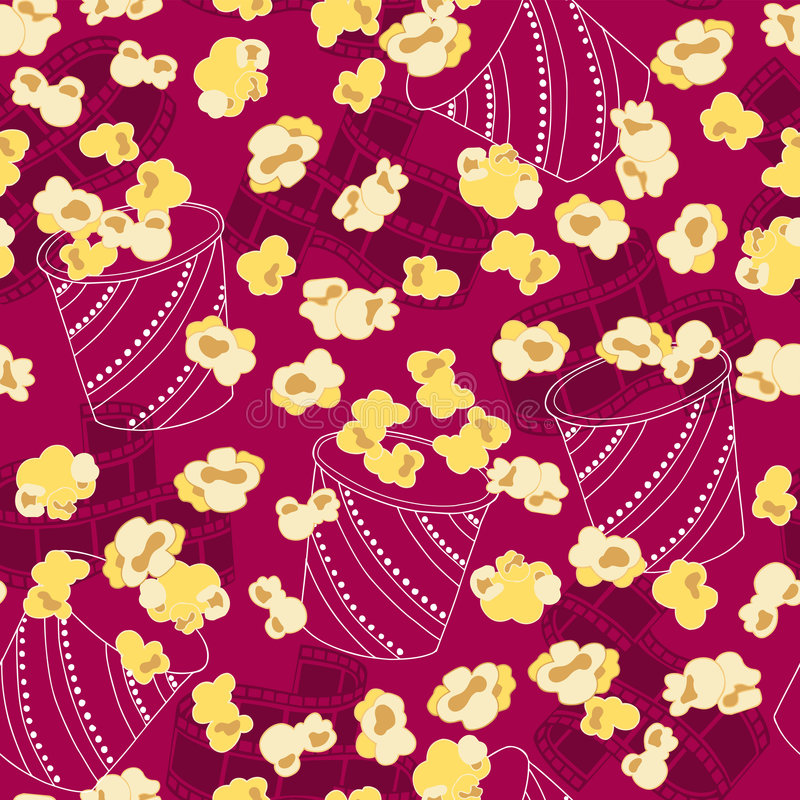 Download Popcorn Seamless Repeat Pattern Vector Royalty Free Stock Photo - Image: 6836015