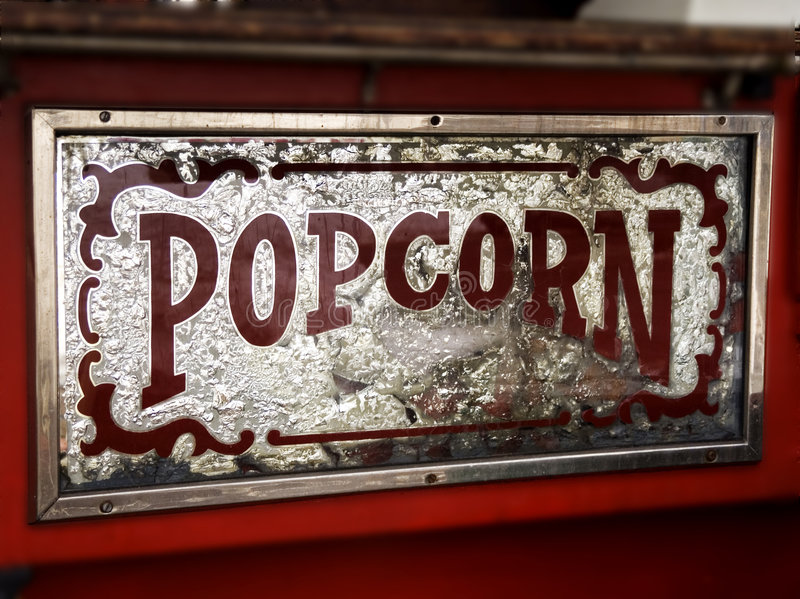 Popcorn sigh royalty free stock images