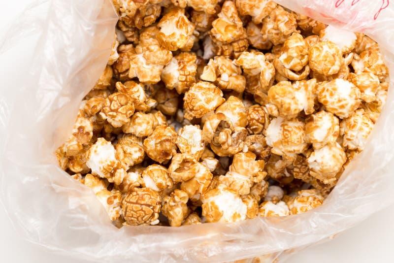 Popcorn som en bakgrund Makro royaltyfria foton