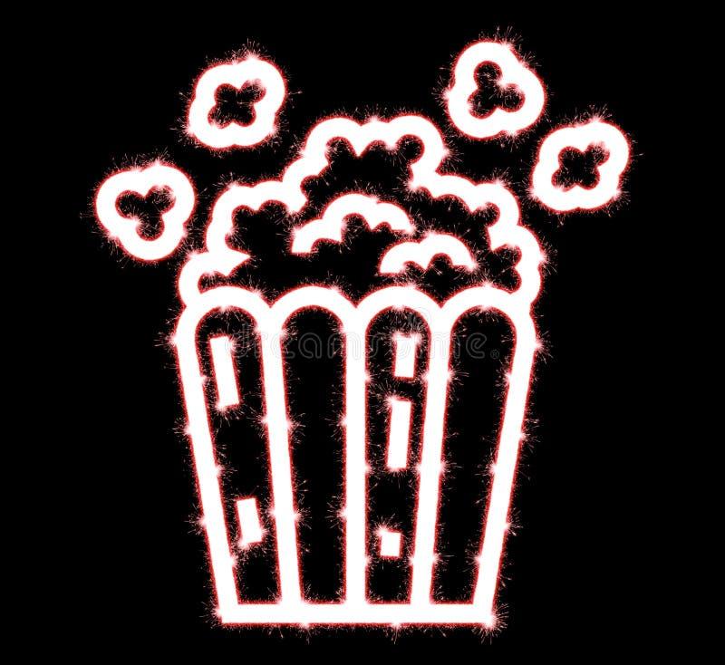 Popcorn sparkler κλασικό popcorn flyingout του χαρτονιού απεικόνιση αποθεμάτων