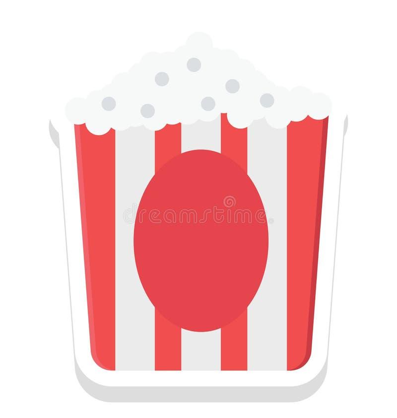 popcorn symbol för popcornaskvektor som kan lätt ändras eller redigera stock illustrationer