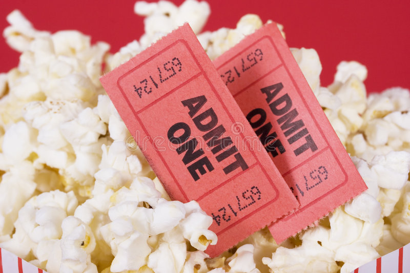 Download Popcorn And Tickets Stock Photography - Image: 2368312