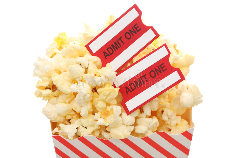 Download Popcorn and tickets stock photo. Image of cinema, snacks - 3177300