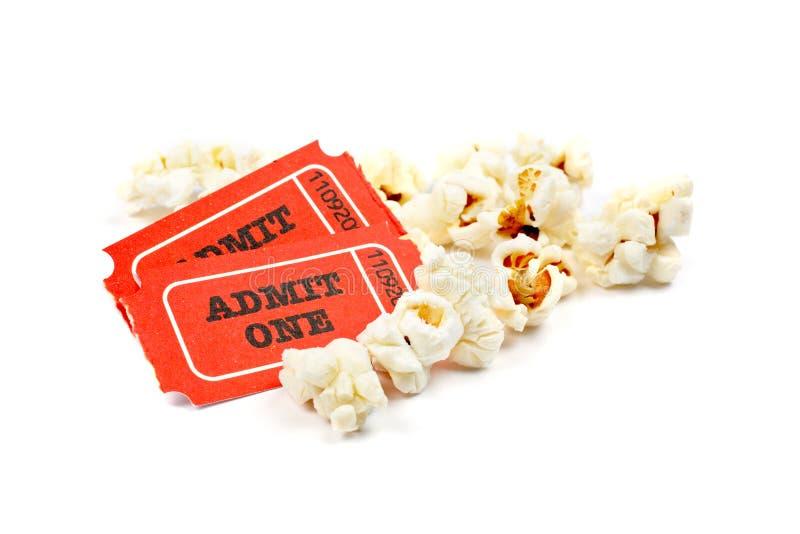 popcorn tickets två royaltyfri bild