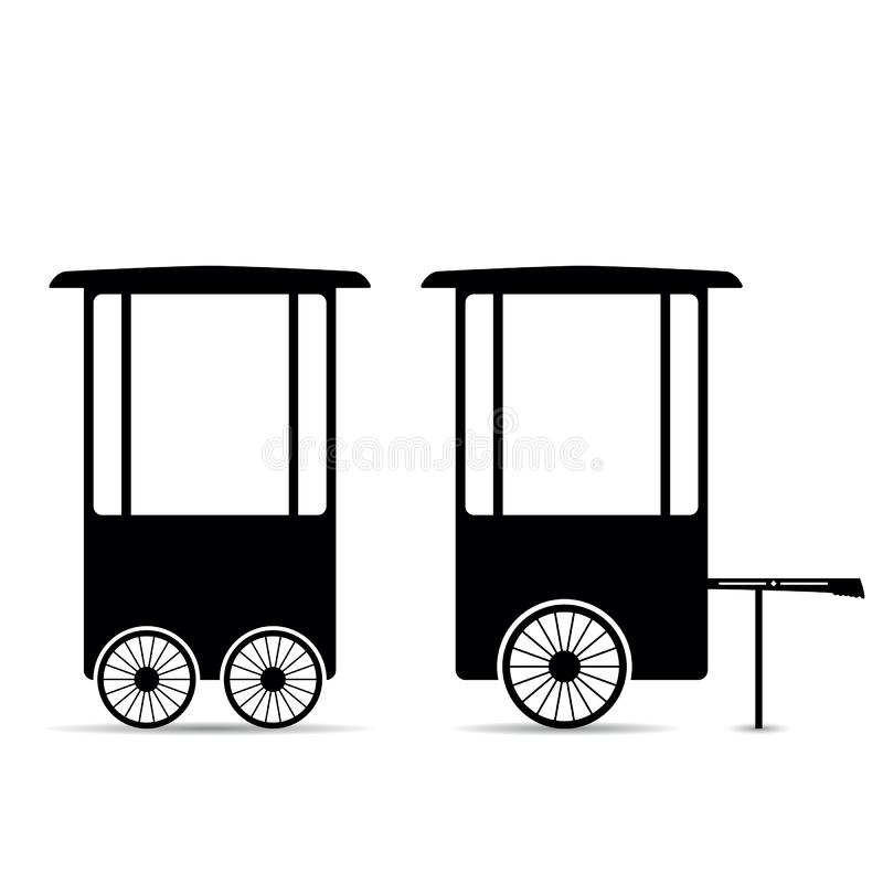 Popcorn trolley vector royalty free illustration