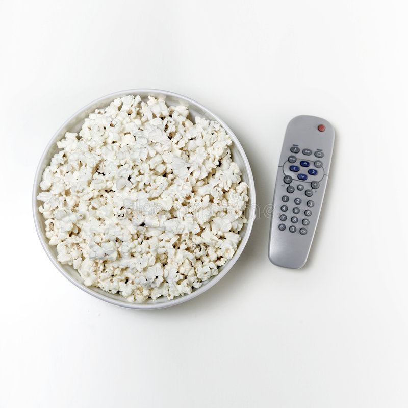Download Popcorn and tv stock photo. Image of watch, television - 4061554