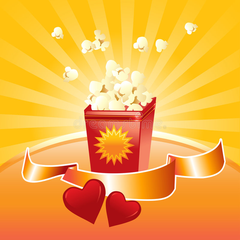 Download Popcorn for two stock vector. Image of tasty, healthy - 8112820