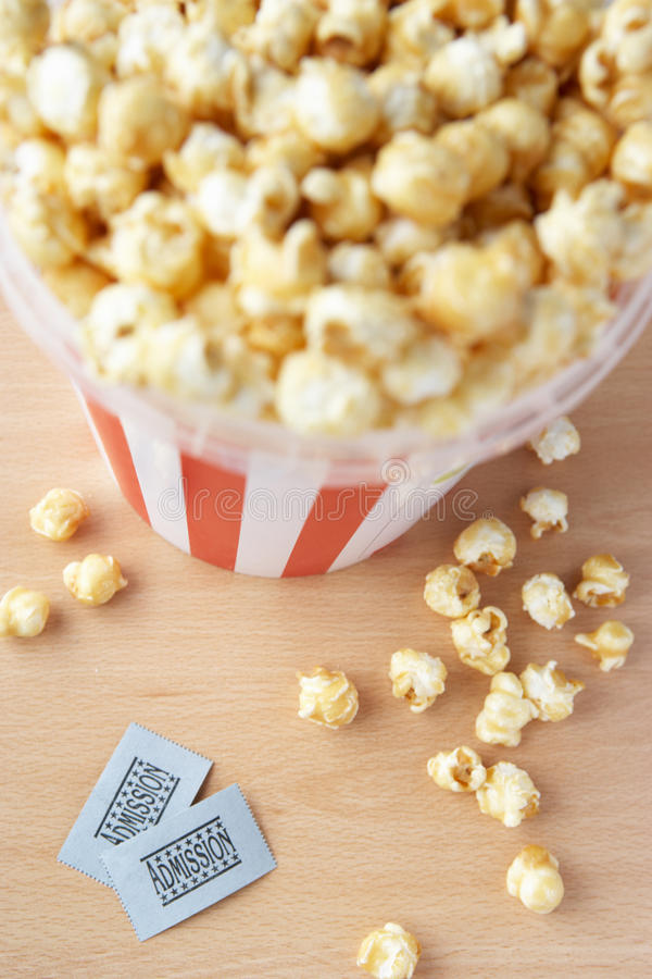 Download Popcorn And Two Cinema Tickets Stock Image - Image: 21589989