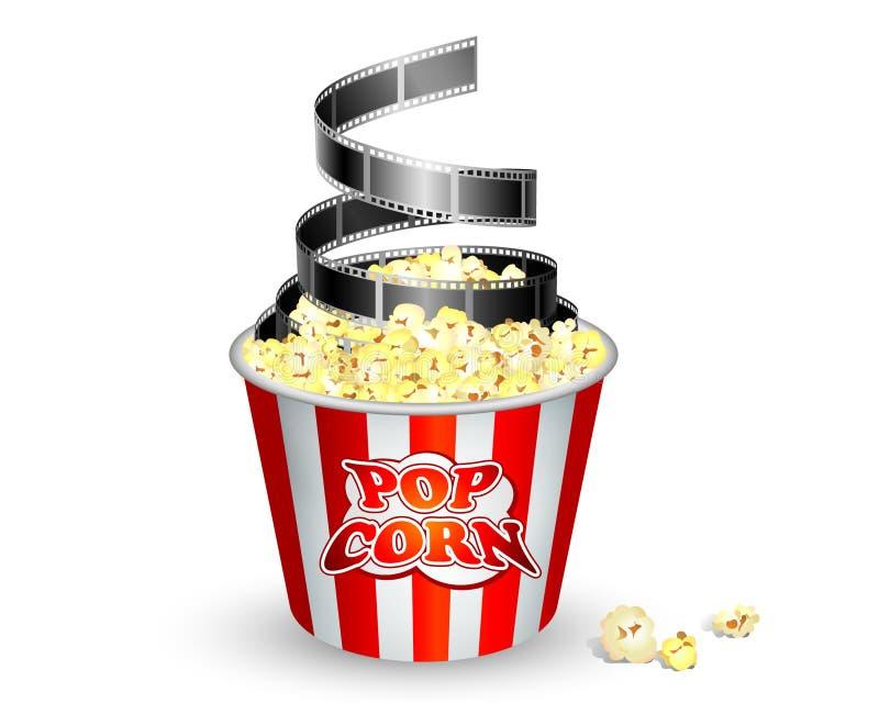 Popcorn und Film stock abbildung
