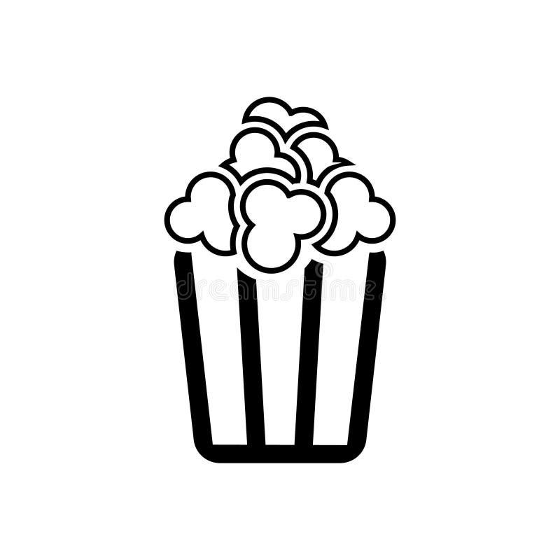 Popcorn vector icon. Pop corn illustration symbol. Cinema logo. For web or mobile stock illustration
