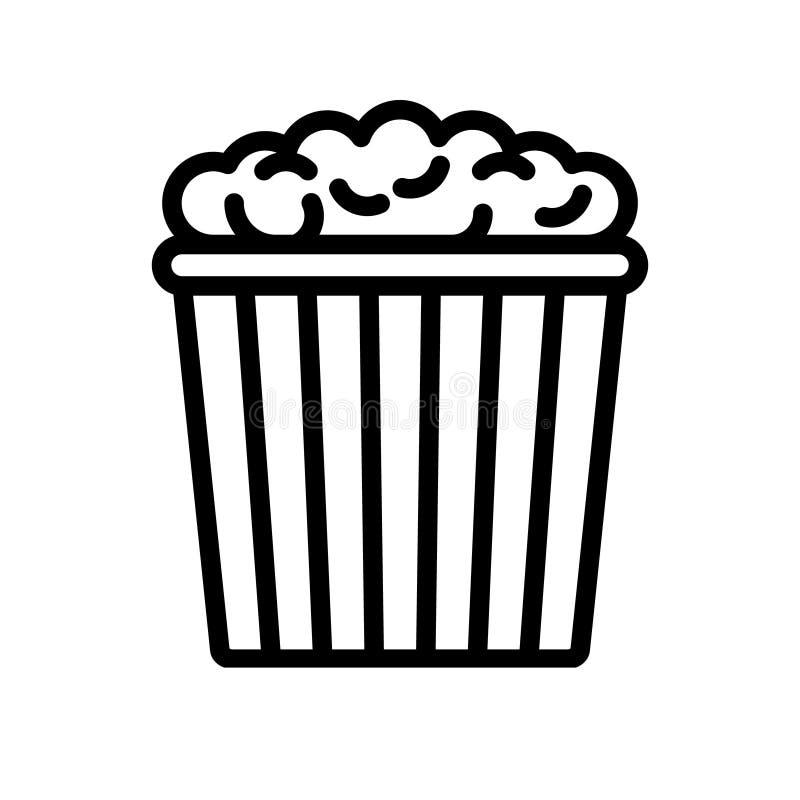 Popcorn vector icon. Pop corn illustration symbol. Cinema logo. For web or mobile royalty free illustration