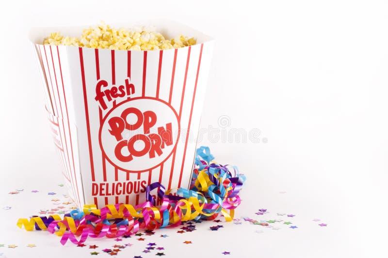 Popcorn voor partij royalty-vrije stock foto's