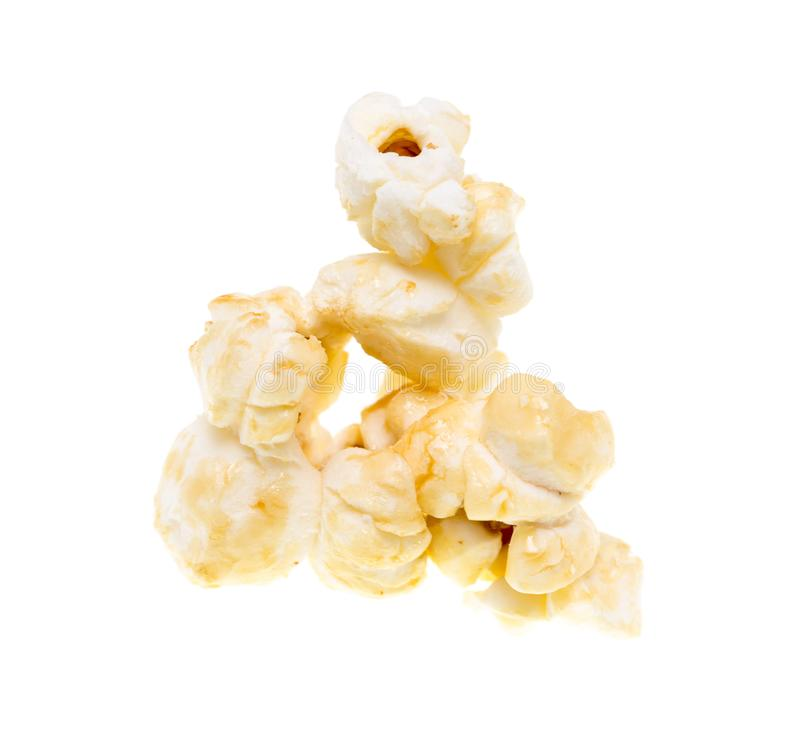 Popcorn on a white background royalty free stock image