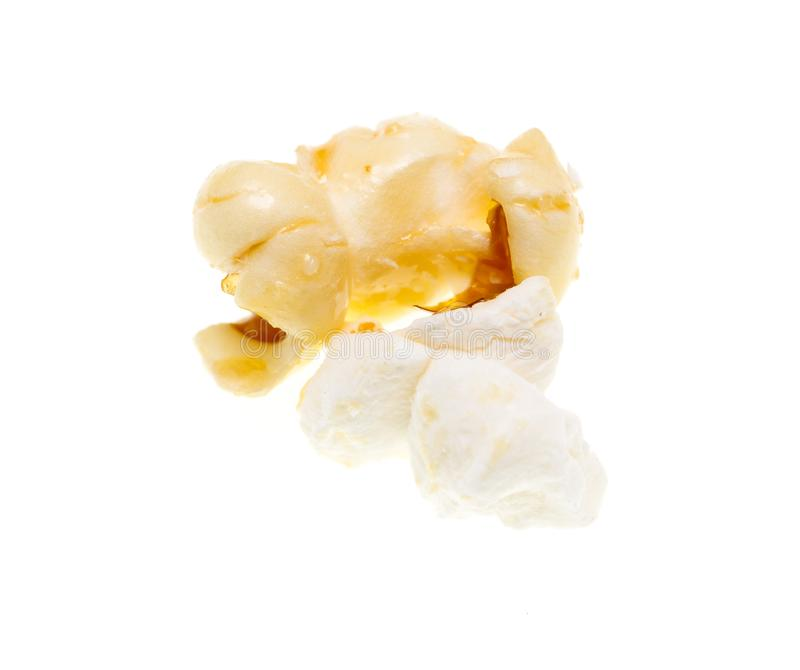 Popcorn on a white background stock photos