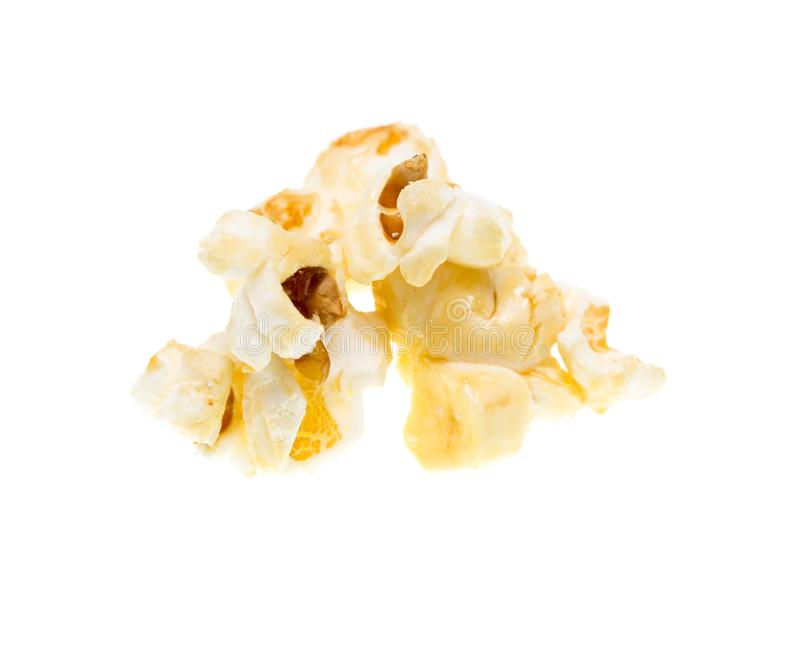 Popcorn on a white background royalty free stock photo