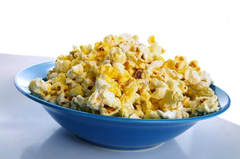 Popcornschüssel lizenzfreies stockbild