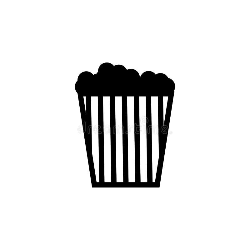 Popcornsymbol Apps för för beståndsdelnöjesfältbegrepp och rengöringsduk Symbol för websitedesignen och utveckling, app-utvecklin royaltyfri illustrationer