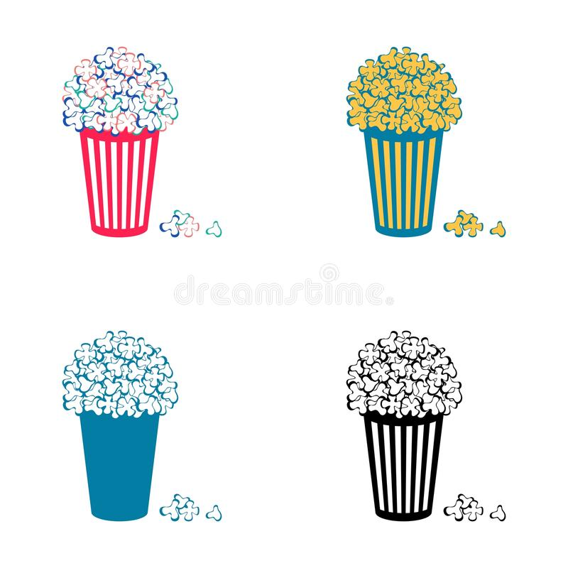 Popcornsymboler vektor illustrationer