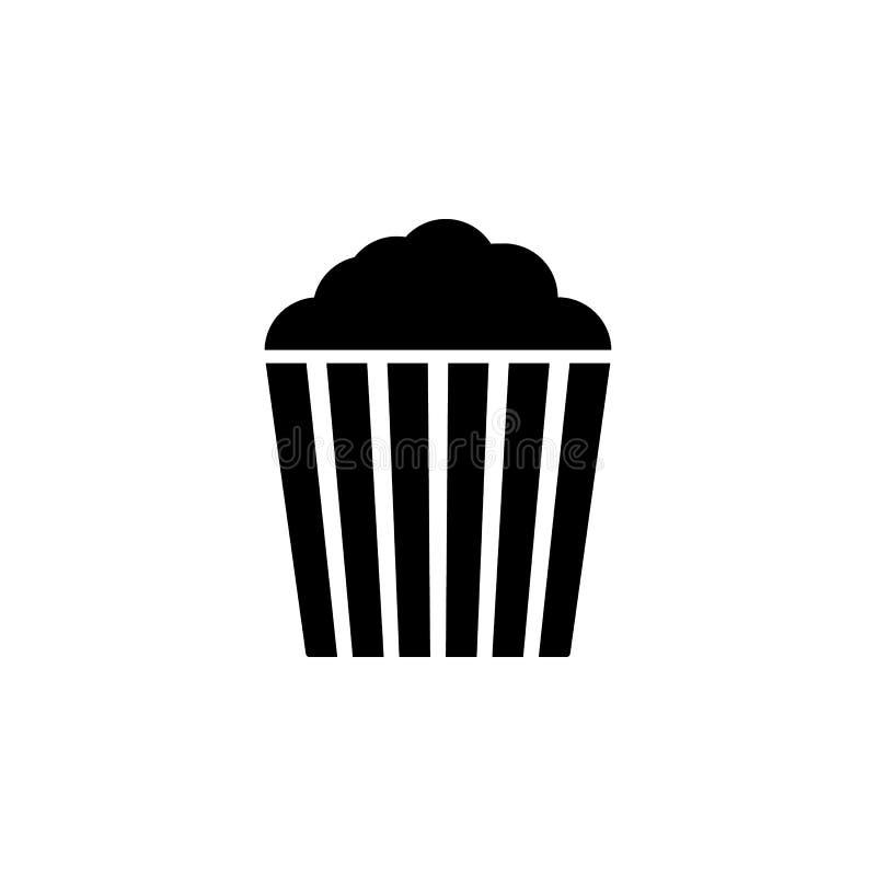 Popcornsymbolsvektor illustration för popcornvektordiagram gears symbolen royaltyfri illustrationer