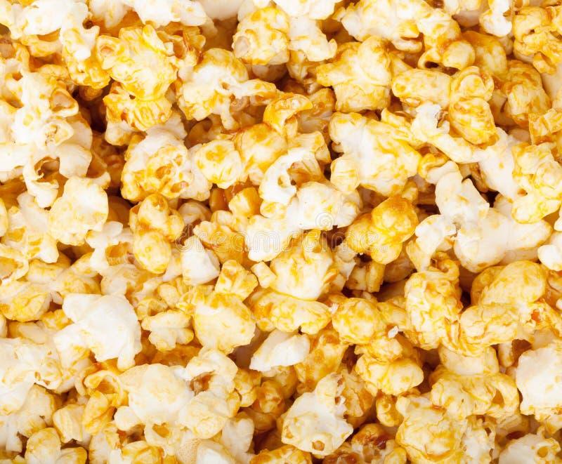 Popcorntexturbakgrund arkivfoto