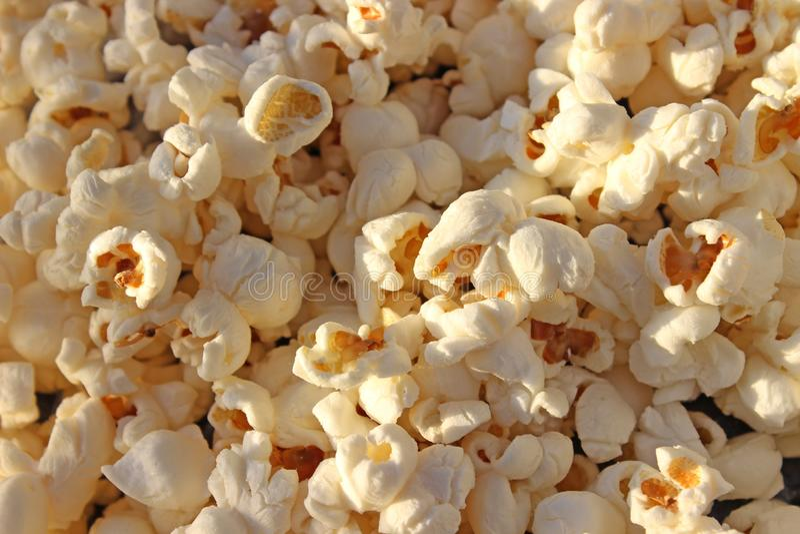 Popcorntextuur royalty-vrije stock foto