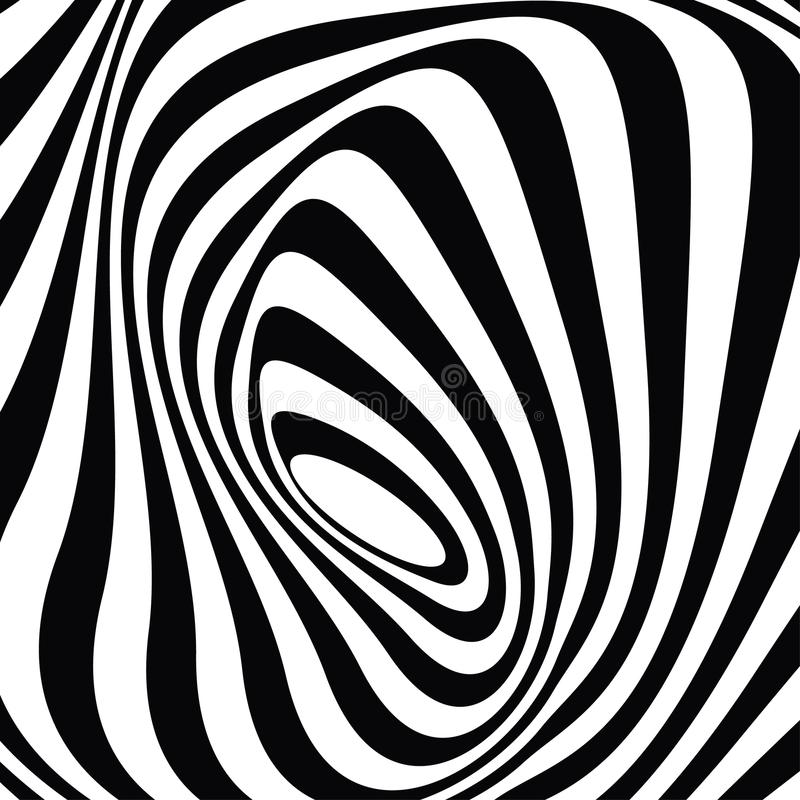 Popdesign: svartvit optisk grafik arkivbild