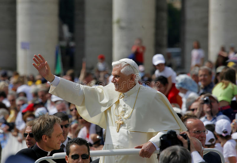 Download Pope Benedict editorial photo. Image of square, audienz - 23835396