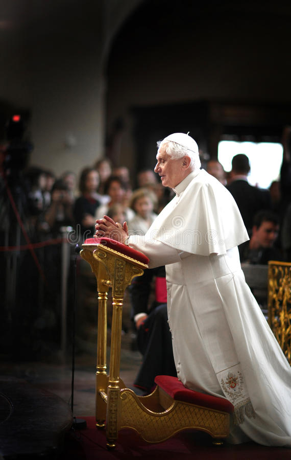 Pope Benedict XVI. Visits Czech Republic in 2009 stock photography