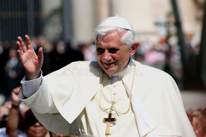 Pope Benedict XVI. Born Joseph Alois Ratzinger on 16 April 1927) is the 265th and reigning Pope, by virtue of his office of Bishop of Rome, the spiritual head