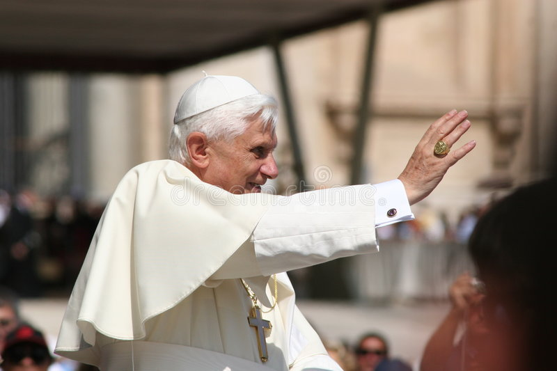 Pope Benedict XVI. Born Joseph Alois Ratzinger on 16 April 1927) is the 265th and reigning Pope, by virtue of his office of Bishop of Rome, the spiritual head stock photos