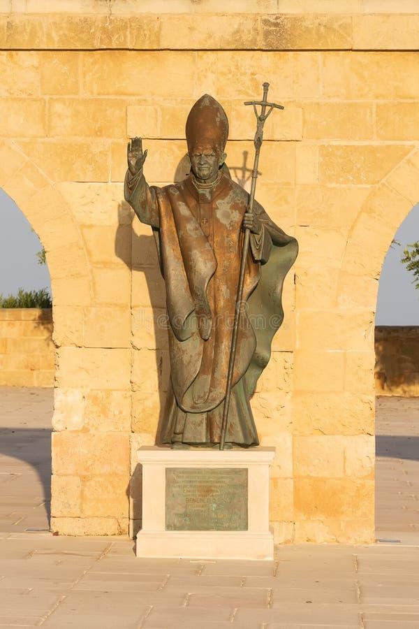 Pope Benedict XVI bronze statue in Santa Maria di Leuca, Salento, Apulia, Italy. Pope Benedict XVI bronze statue in Santa Maria di Leuca, Salento, Puglia, Italy royalty free stock images