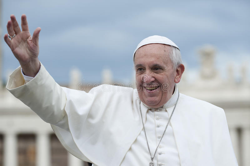Pope Francis bless faithful royalty free stock photos
