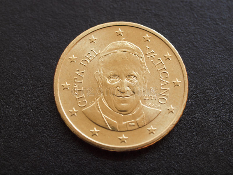 Pope Francis I coin royalty free stock images