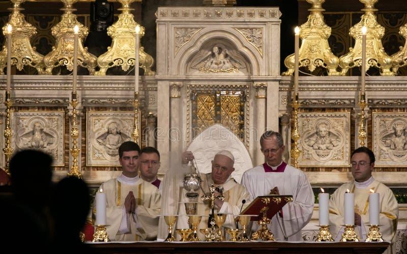 POPE FRANCIS ODWIEDZA RUMUNIA obraz stock
