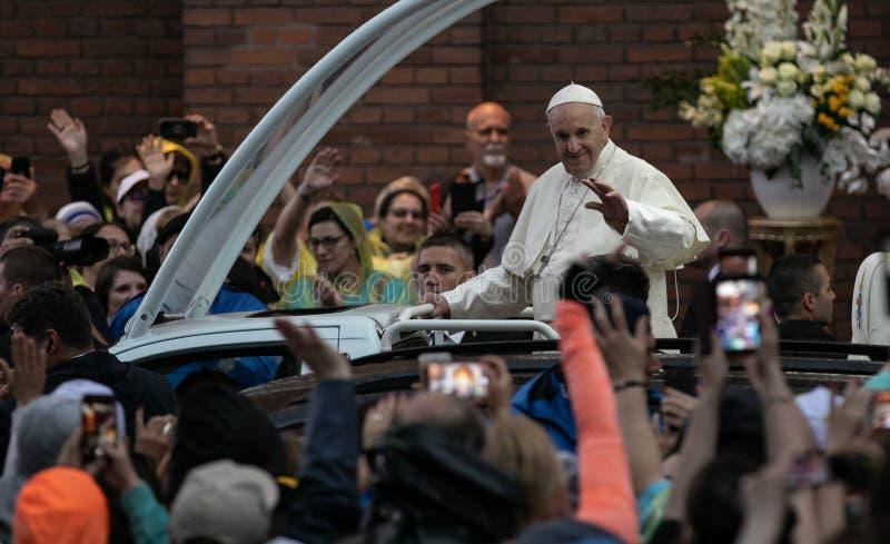 POPE FRANCIS ODWIEDZA RUMUNIA zdjęcie stock