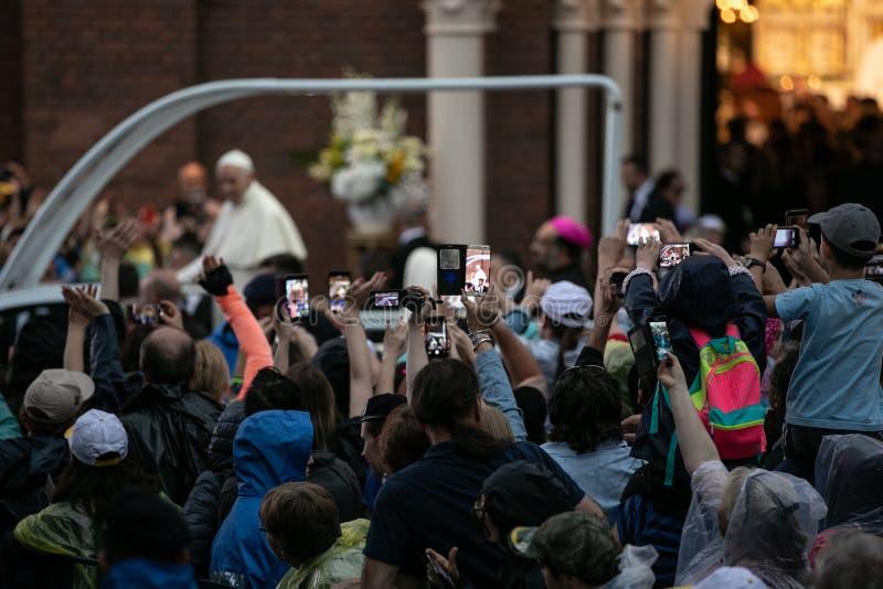 POPE FRANCIS ODWIEDZA RUMUNIA zdjęcia stock