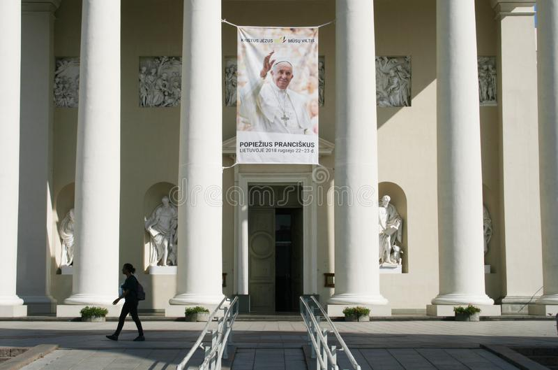 Pope Francis w Vilnius, Lithuania zdjęcia stock