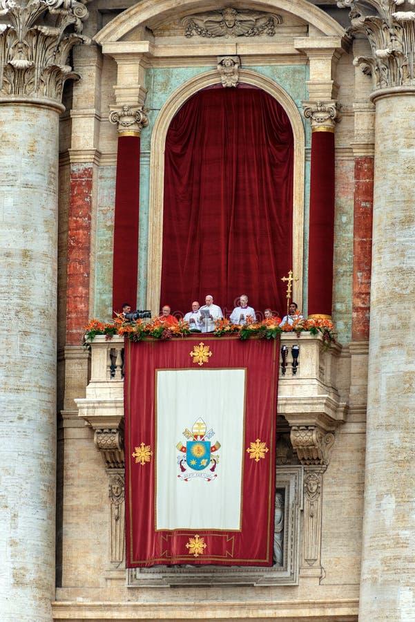 Pope Francis watykan Rzym - Urbi Et Orbi Błogosławiący - fotografia royalty free